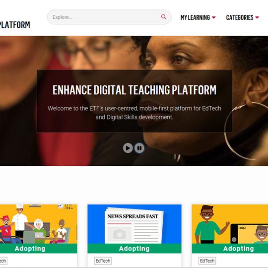image of Enhance website homepage