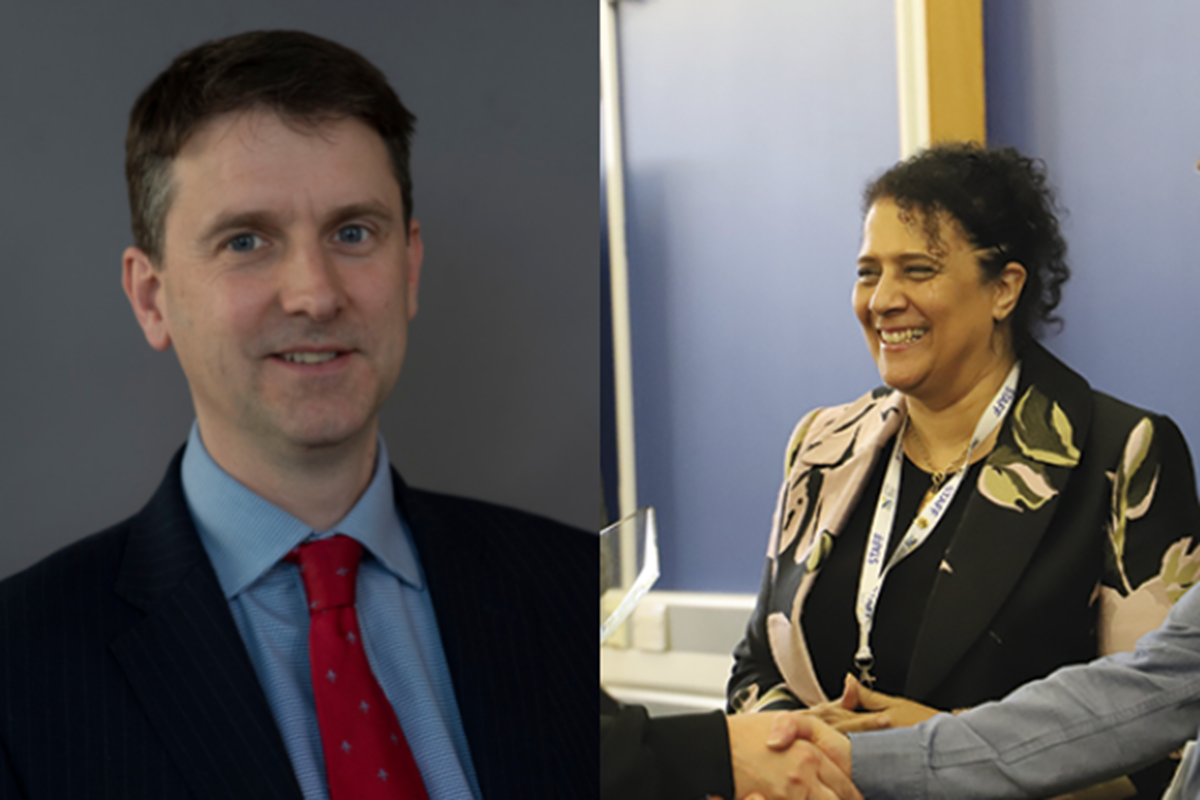 David Russell, CEO of the ETF, Denise Brown, CEO and principal of Stoke on Trent College