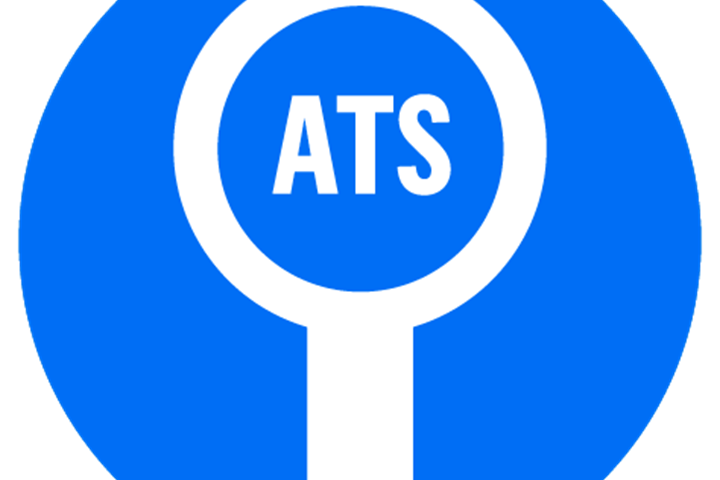 Graphic showing word ATS inside a rosette icon