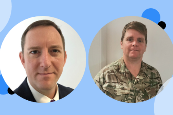Major Jim Crompton FSET and Adam Brown QCVS