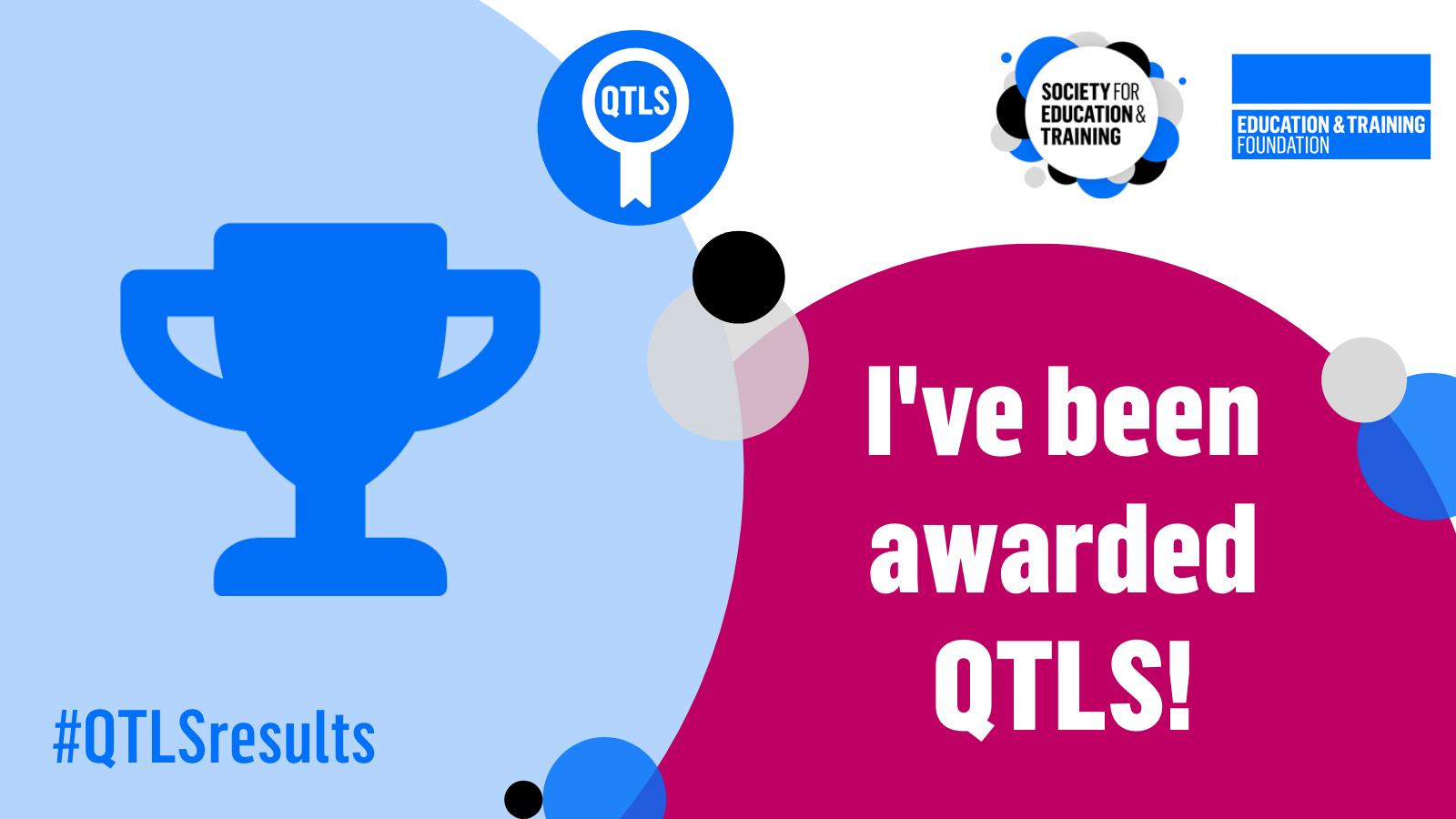 Awarded QTLS Twitter graphic