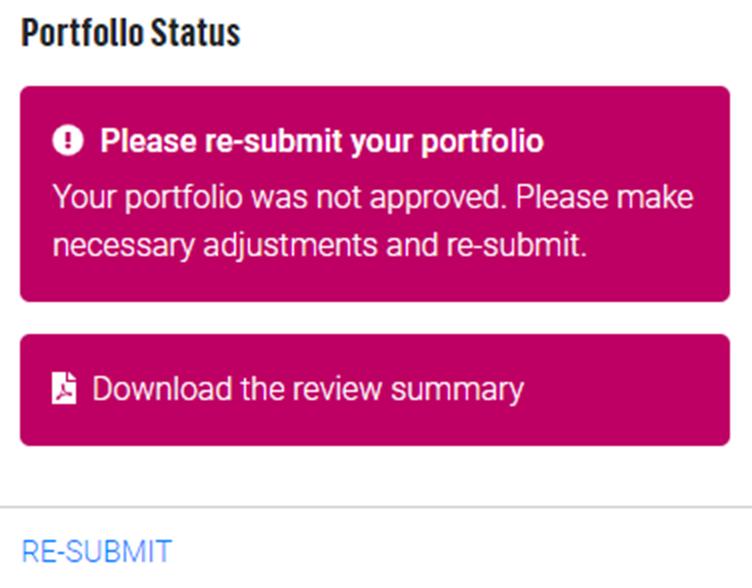 Image of QTLS portfolio for criteria not met